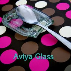 Aviya Glass: Slumped glass Spoon rest. How to make them from recycled bottles
