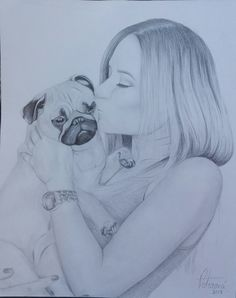 "Portrét A3 ""LucyPug"" - Peterová Pug Life, Moma, Youtubers, Pugs, I Am Awesome, Celebrity, Petra, Drawings, Sketches"