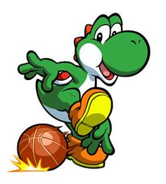 #Yoshi demonstrates his #madskillz in Mario Hoops 3 on 3. More info at http://www.superluigibros.com/mario-hoops-3-on-3