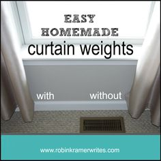 Homemade Curtain Weights (what pennies and paperclips can do) - Robin Kramer Writes