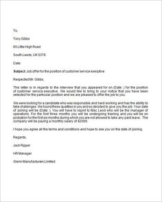 how to write a job offer letter