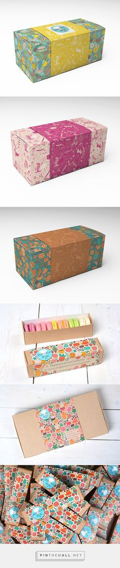 Macarons patterns for Macaronshop in St. Petersburg, designed by Ira Markovka. Pin curated by Macaron Packaging, Branding And Packaging, Kraft Packaging, Luxury Packaging, Tea Packaging, Pretty Packaging, Design Packaging, Label Design, Box Design