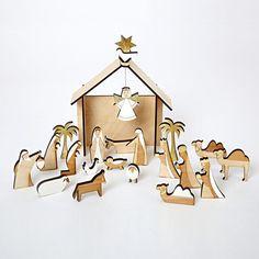 Set of 26 Multicolor Precious Moments O Come Let Us Adore Him Nativity Advent Calendar