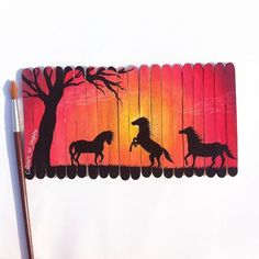 I'm loving these popsicle stick canvases! And the artist(s) are so talented.