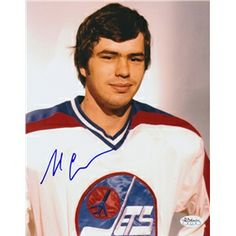 Al Cameron Winnipeg Jets Autographed 8x10 Photograph signed in blue sharpie