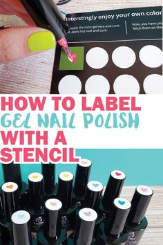 Organize all your gel polish colors with cute hearts on top so you know what each color is. Gel Manicure At Home, Gel Nails, Craft Organization, Organizing, Cricut Tutorials, Cricut Ideas, Gel Nail Polish Colors, Nail Polish Bottles, White Polish