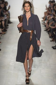 A belted dress... The inspiration...belted, soft, and swingy... http://anoteonstyle.com/a-belted-dress/ #Michaelkors #spring14