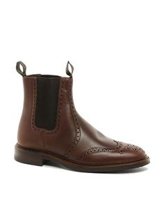 Loake Thirsk Leather Brogue Chelsea Boots