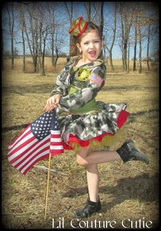 Glitz Army Pageant Wear / WOW Wear / Army Camo by LilCoutureCutie, $100.00  love this