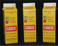 """FLAVACOL is the worlds most popular seasoning salt. This """"secret ingredient"""" adds buttery flavor & bright yellow color for real theater style popcorn. Because this salt is a fine flake, not a crystal, you only add a little right along with your popcorn kernels and oil and then pop. Made using the """"Alberger Process"""", all traces of minerals that can lead to a bitter taste are removed.  Just the right blend of Yellow #5 and #6 produce the brightest color. popcorn salt!"""