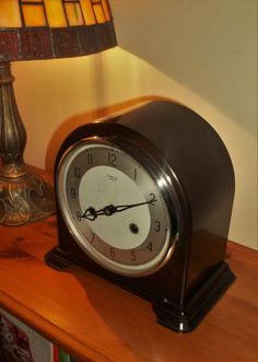 Superb 1930/40 s Smiths Enfield Bakelite Mantle Clock In Beautiful Condition