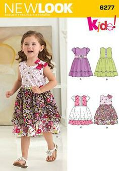 Simplicity Creative Group - Toddlers' Dress with Fabric Variations