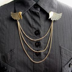 A personal favorite from my Etsy shop https://www.etsy.com/listing/266437668/fashion-angel-wings-brooch-collar-clip
