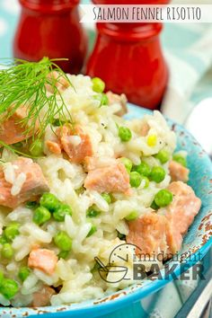 Salmon Fennel Risotto - The Midnight Baker Mary Berry, Diners, Fennel, Dinner Tonight, Risotto, Salmon, Seafood, Berries, Keto