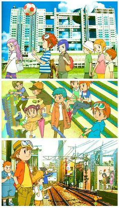 Digimon gens 2-4 ~ I love the 90's nostalgic vibe that these have.