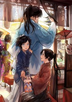 Wow! Their aruji, okita looks handsome!