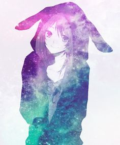 Anime Galaxy, Galaxy Art, Kawaii Girl, Kawaii Anime, Galaxy Images, Rainbow Galaxy, Galaxy Background, Hatsune Miku, Aesthetic Anime