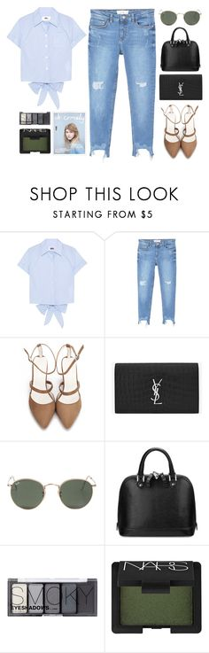 """""""phlegmatic"""" by tan-ara ❤ liked on Polyvore featuring MM6 Maison Margiela, MANGO, Yves Saint Laurent, Ray-Ban, Aspinal of London, H&M, NARS Cosmetics, MyStyle, beoriginal and polyvoreeditorial"""
