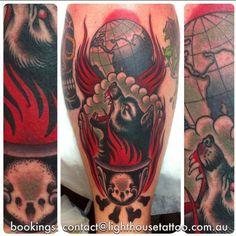 "By Alex ""Rusty"" Carins @ Lighthouse Tattoo, Sydney AUS"