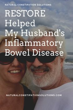 Restore Helps Inflammatory Bowel Disease - Natural Constipation Solutions helps my husband to manage his Crohn's disease. RESTORE is a supplement that heals leaky gut and helps the immune system. Constipation Remedies, Constipation Relief, Ulcerative Colitis, Gut Health, Health Tips, Crohns, Natural Supplements, Natural Solutions, Immune System