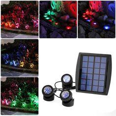 38.96$  Buy now - https://alitems.com/g/1e8d114494b01f4c715516525dc3e8/?i=5&ulp=https%3A%2F%2Fwww.aliexpress.com%2Fitem%2FSolar-RGB-Underwater-Light-LED-Grass-Ground-Lamp-Outdoor-Garden-Decorative-Lamp-Waterproof-spotlight-Pool-Atmosphere%2F32472454090.html - Led underwater solar light with Solar Powered 3 Bulbs Submarine Spotlight 18LEDS RGB Garden Pool Pond Lamp Underwater Lights 38.96$