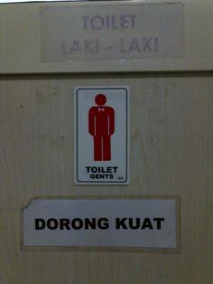Toilet sign at Panti Rapih Hospital