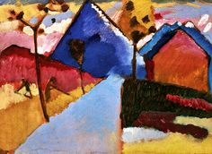 Kochel - Straight Road Wassily Kandinsky - 1909