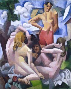 Roger de La Fresnaye - The Bathers, 1912. Oil on canvas.