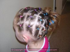 Elastic rainbow hairstyle for St. Patrick's Day