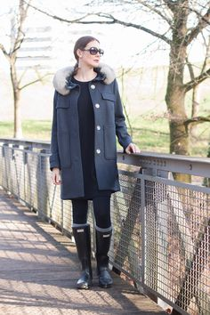 Outfit  Peuterey Coat x Hunterboots   Mood For Style - Fashion, Food, Beauty ad23ff7dd3