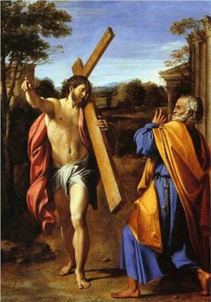Lord, whither goest thou? - Annibale Carracci