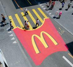 Mc Donald's Street Ad this is kinda sad