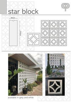 Cinder Block House, Breeze Block Wall, Garden Oasis, Pool Houses, Outdoor Spaces, Natural, Lattice Ideas, Shutter Hinges, Garden Design
