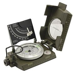 Beileshi Professional Multifunction Military Army Metal Sighting Compass W/inclinometer Camping and Hiking Waterproof Compass >>> Click image to review more details.