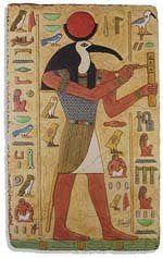 THOTH - Sua origem é polêmica: alguns textos o apresentam como filho de Rá, outros, como de Set. Com cabeça de uma ave – a íbis – é o deus da Lua, da sabedoria e da cura. É o patrono dos escribas e trouxe os hieróglifos ao Egito.