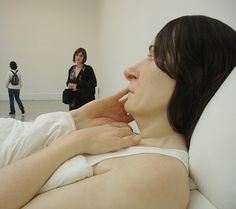 Ron Mueck is a ridiculous sculpture artist... lil' freaky.