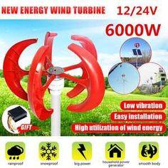 5 Blade Wind Turbine Generator 400W DC 24V Windenergie Windgenerator Windrad DE