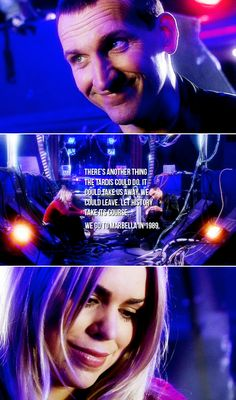 The Doctor + Rose Tyler: Yeah, but you'd never do that. #doctorwho