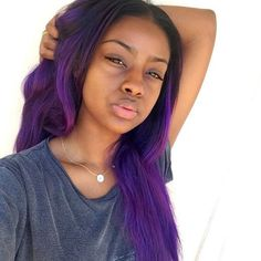 black people with purple hair Lavender Hair Dye, Purple Hair, Weave Hairstyles, Pretty Hairstyles, Lace Closure, Ombre Hair At Home, Natural Hair Styles, Short Hair Styles, Natural Beauty