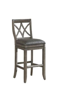 Bennett 24 Inches Red Faux Leather High Back Bar Stools