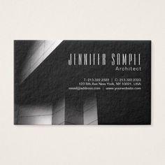 Architect Gift Ideas architect elegant professional black luxury business card