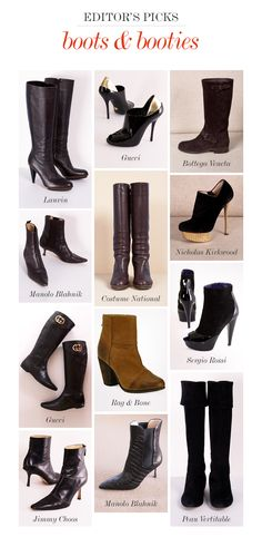 EDITOR'S PICKS  |  Boots & Booties
