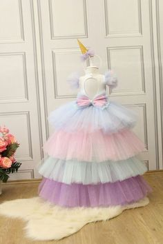 This stunning luxury handcrafted dress is perfect for birthday party, baby beauty peagant, photography and wedding Gowns For Girls, Dresses Kids Girl, Kids Outfits, Flower Girl Dresses, Baby Tutu Dresses, Baby Girl Fashion, Kids Fashion, Baby Frocks Designs, Baby Dress Patterns