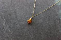Raw Citrine, Tanzanite, Zircon Gold necklace - Long beautiful elegant chakra necklace