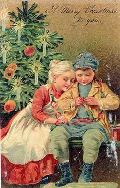 Vintage Christmas card. #vintagechristmas www.theclipartcorner.com