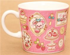 pink Piggy Girl pig in frames cup by San-X 2