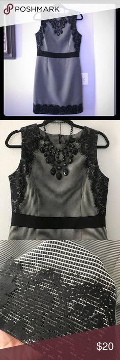 Beautiful Lace Sheath Dress Lace overlay. Perfect condition. ILE Dresses