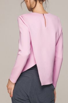 long sleeved top with asymmetrical back - the back is amazing, and it's PINK!!!!!!! Gasp - with heather grey? Yes please!