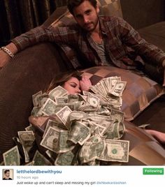 When Khloe was cold and he lent her a blankets of cash.