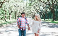 Southern engagement at Wormsloe Plantation. See more now on Savannah Soiree. http://www.savannahsoiree.com/journal/southern-engagement-at-wormsloe-plantation